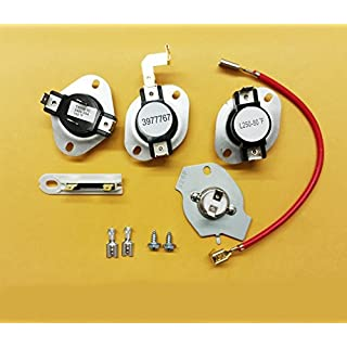 Dryer Thermostat Thermal Fuse Kit 3977767 3392519 3387134 279816 Whirlpool Kenmore Roper by Express