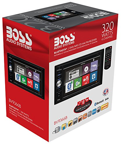 BOSS Audio BV9366B Double Din, Touchscreen, Bluetooth, DVD/CD/MP3/USB/SD AM/FM Car Stereo, 6.2 Inch Digital LCD Monitor, Wireless Remote by BOSS Audio Systems (Image #8)