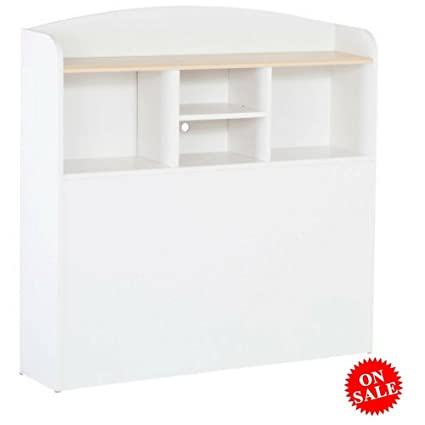 Amazon Com Free Standing Bookcase Headboard Wooden White
