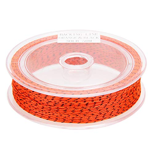 (Bowbof - 50M 30LB Backing Fishing Line Braided Fly Line Weaves Multifilament Polyester Fishing Rope Braided Wire with Fishing Wire Winder)