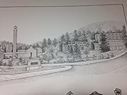 Appalachian State University 16''x20'' pen and ink collage print