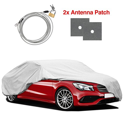 """RVMasking Heavy Duty Car Cover Fits 170"""" - 185"""" Length Sedan, Water Resistant All Weather Hail Proof UV Protection Winter Snow Full Car Protector Covers with Anti-Theft Lock"""