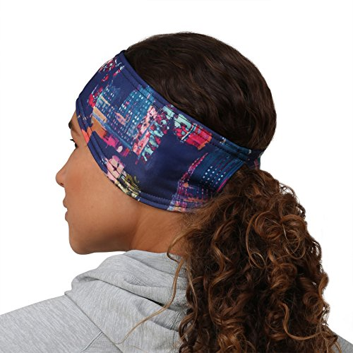 TrailHeads Women's Print Ponytail Headband – 12 Prints  - Made in USA - Cityscape by TrailHeads (Image #3)