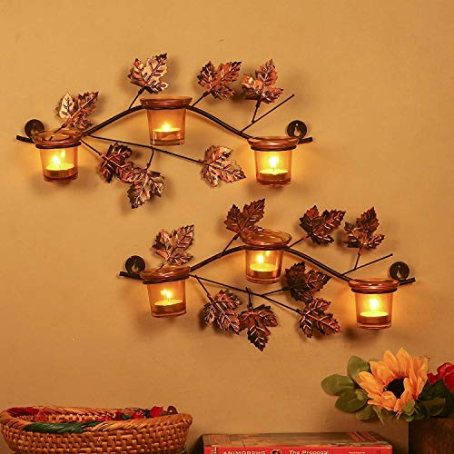 Zumba Sellers Iron Wall Mount with Votive Candle Holder and T-Light Candles