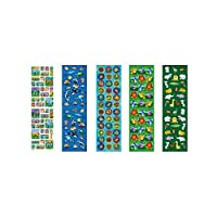 "Animals Sticker Strips Favor Value Pack for Parties and Celebrations, 10-1/4 x 3"", Multicolored"