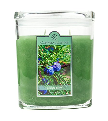 New Holiday Fragrance - Juniper Berry Glass Oval Jar 2-wick 22 ounce Candle