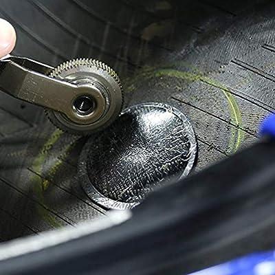 ZHSMS Tire Patch Roller Tool Set with 20Pcs Valve Cores 10Pcs Tire Valve Caps 4-Way Valve Tool Dual Head Valve Core Remover Tire Repair Tool: Automotive