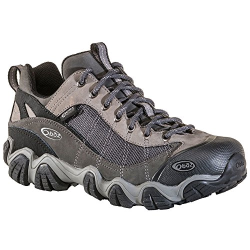 Oboz Men's Firebrand II Low Waterproof Hiking Shoes Grey Black 12 by Oboz