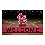 FANMATS 21934 Team Color Crumb Rubber St. Louis Cardinals Door Mat, 1 Pack