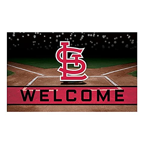 FANMATS 21934 Team Color Crumb Rubber St. Louis Cardinals Door Mat, 1 Pack - Louis Cardinals Fiber