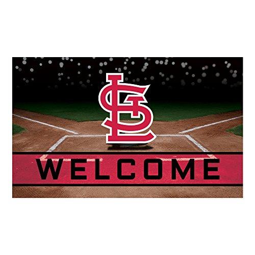 FANMATS 21934 Team Color Crumb Rubber St. Louis Cardinals Door Mat