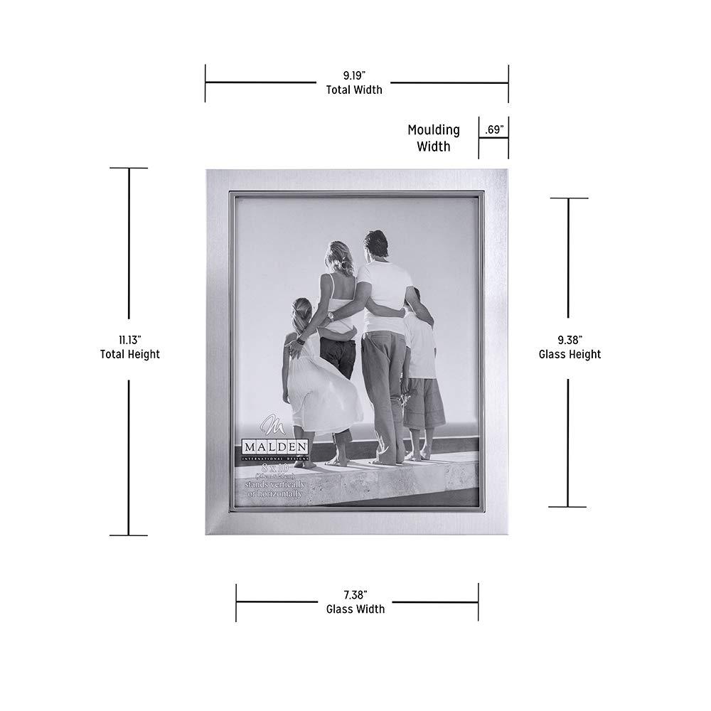 Malden 9054-46 4x6-Inch Uptown Matte Silver with Silver Fashion Metal Frame