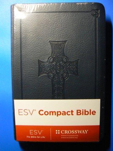 ESV Compact Bible (Trutone, Royal Blue, Celtic Cross Design) Black Letter Text