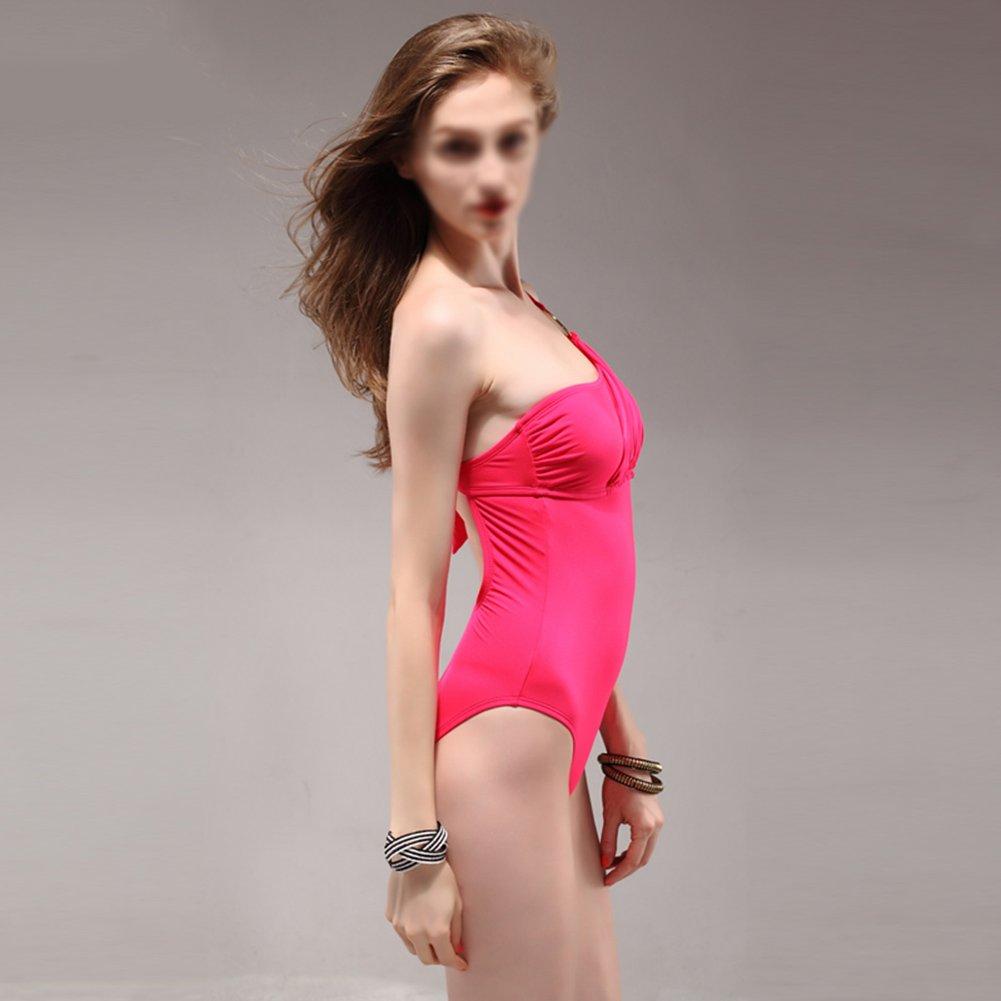 ワンピースレディースビーチビキニセクシースパ水着の水着スーツ水着パジャマ女性の夏のスイミングコスチューム (色 : ピンク ぴんく, サイズ さいず : S s) B07CWKJBPW