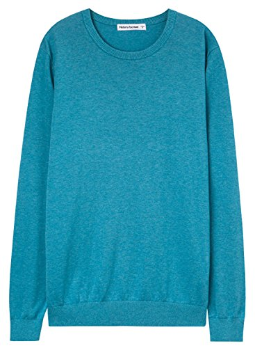meters-bonwe-mens-basic-round-neck-long-sleeve-solid-pullover-sweater-blue-xxl
