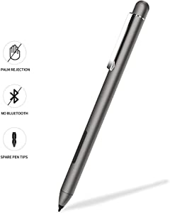 Stylus Active Pen for HP Pavilion x360 11m-ad0 14M-ba0 14-cd0 15-br0; HP Envy x360 15-bp0 15-bq0, x360 15-cn0, X2 12-e0xx,X2 12g0xx ; HP Spectre x360 13-ac0xx 15-blxxx (Gray)