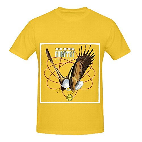 Big Country The Seer Pop Mens Round Neck Customized T Shirts Yellow