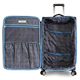 Perry Ellis Luggage Glenwood 2 Piece Set Expandable Suitcase with Spinner Wheels, Navy, One Size
