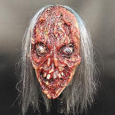 TongNS1 Máscara Halloween,Scary Zombie Máscara,Cosplay Látex ...