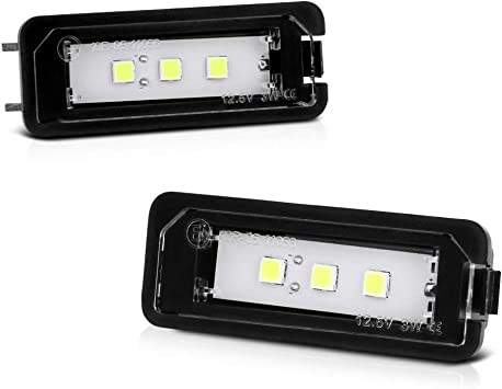 Porsche 987 Cayman Boxster 997 License Number Plate LED Lights Lamps Xenon White