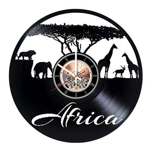 South Africa Vinyl Record Wall Clock - Kids room wall decor - Gift ideas for siblings, kids, children - Unique Art - Designer Sibling