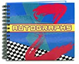"BookFactory® Autograph Journal / Autograph Book - 48 Pages, Wire-O With Laminate Color Cover, Page Size 6"" x 5"" (LOG-048-CCW-A(AUTOGRAPH))"