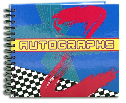 BookFactory Autograph Journal/Autograph Book - 48 Pages Wire-O with Laminate Color Cover Page Size 6