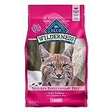 Blue Buffalo Wilderness High Protein Grain Free Adult Dry Cat Food, Salmon 11-lb
