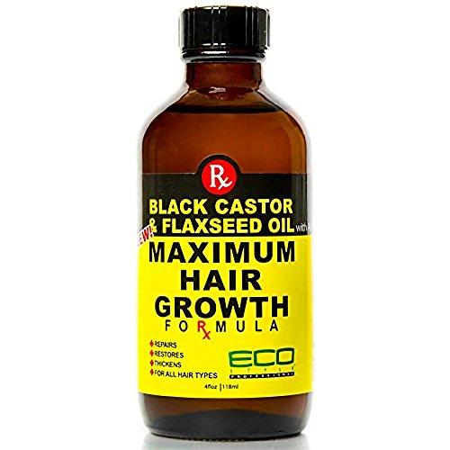 Eco Style Black Castor and Flaxseed Oil Maximum Hair Growth Formula, 4 Ounce