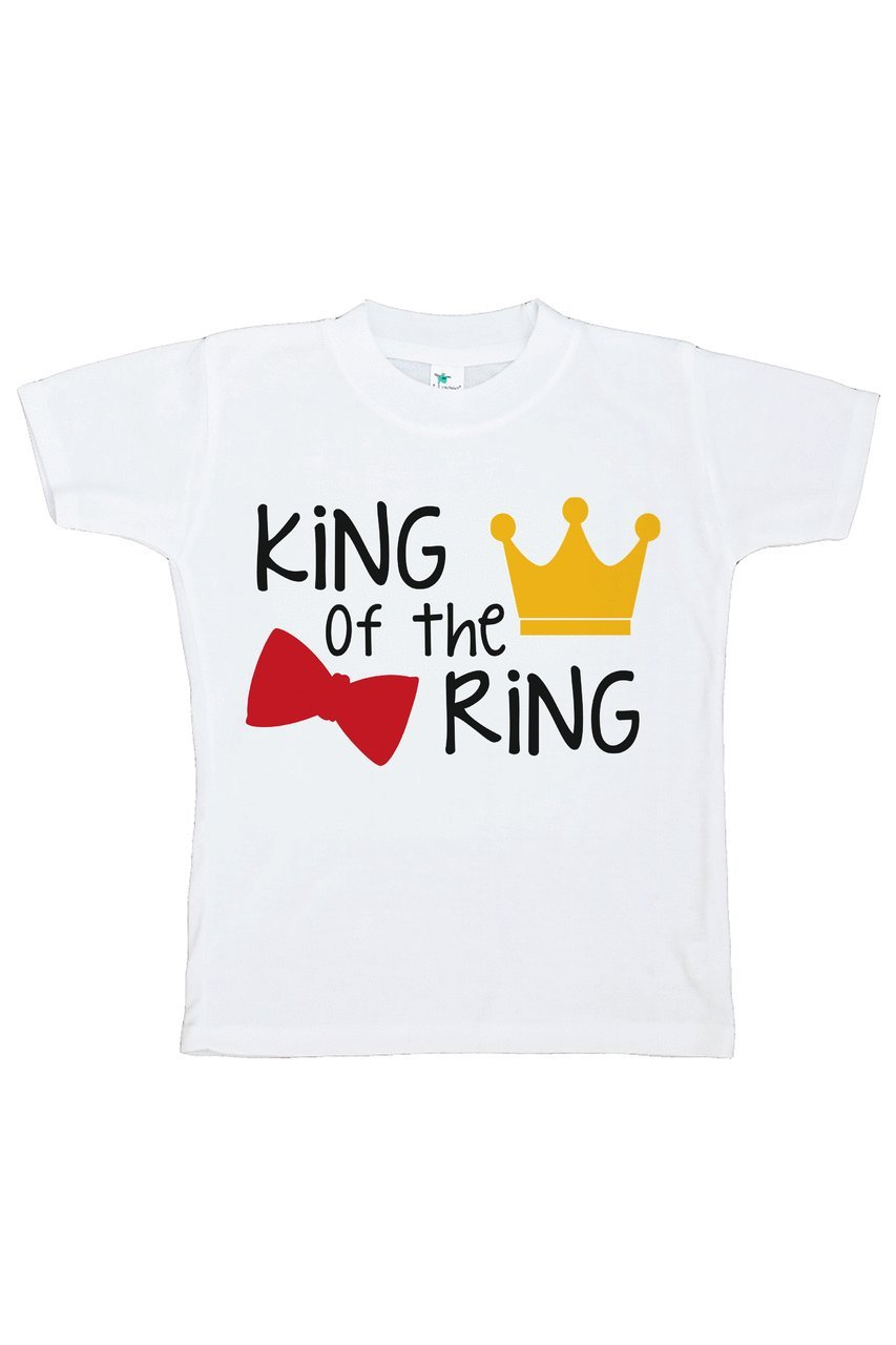 Custom Party Shop Youth Boy's King of the Ring Wedding T-shirt Small