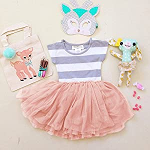 NORAME Baby Girls Dress Cute Short Sleeves Pink Chiffon Skirts (2T(2-3Years), Pink)