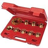 """Silverline 245122 - Juego de casquillos copiadores, 10 pzas (5/16"""" - 3/4"""" / 7,9 - 20,2 mm)"""