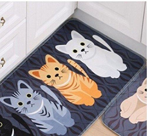 HENGSONG Cute Print Cat Indoor Outdoor Doormat Floor Mats 40x60cm
