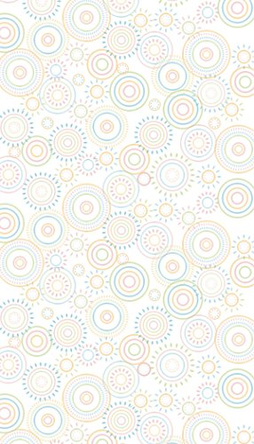 Ella Bella Photography Backdrop Paper, Hopscotch Circles, 48