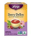 Yogi Berry DeTox Tea, 16 Tea Bags (Pack of 6), Packaging May Vary
