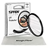 TIFFEN 77MM UV Protection Filter for Canon 24-105MM, 10-22MM, 17-40MM, 28-300MM, 70-200MM and Nikon 10-24MM, 28-300MM, 18-300MM DSLR Zoom Lenses + MagicFiber Microfiber Lens Cleaning Cloth