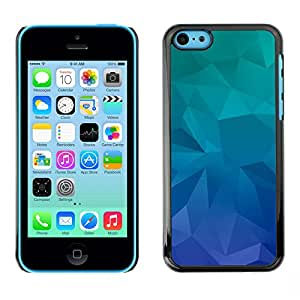 MOBMART Carcasa Funda Case Cover Armor Shell PARA Apple iPhone 5C - The Green Blue Crystals