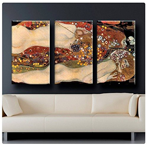 (Alonline Art - Water Serpents Snakes Gustav Klimt Poster Prints Rolled (Print on Fine Art Photo Paper) 48
