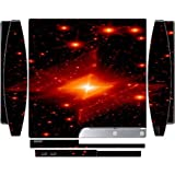 Red Asteroids Cosmic Nebula Printed Design Playstation 3 & PS3 Slim Vinyl Decal Sticker Skin by Smarter Designs