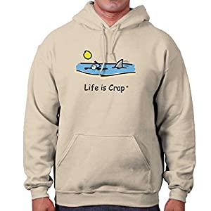 Classic Teaze Life Is Crap Shark In Water Funny Shirt | Cool Gift Idea Sea Hoodie Sweatshirt
