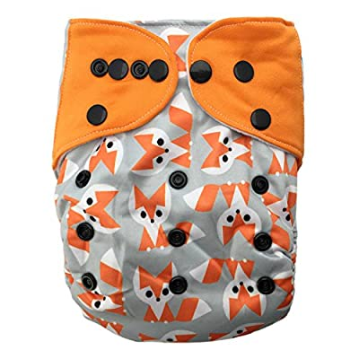 HappyEndings Charcoal /Bamboo /Organic Cotton /Micro Fleece AI2? All-In-Two Cloth Diaper / Snap-in Insert & Pocket