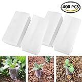 BraveWind 500 Pcs Biodegradable Non-Woven Grow Bags Plants Seeding Grow Bags Nursing Seedling Raising Pots Plants Pouch, 8x10cm