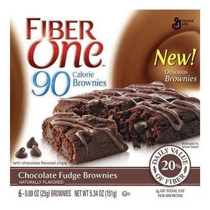 Fiber One 90 Calorie Brownies, Chocolate Fudge, 5.34-ounce (Pack of 5) (30 Bars)