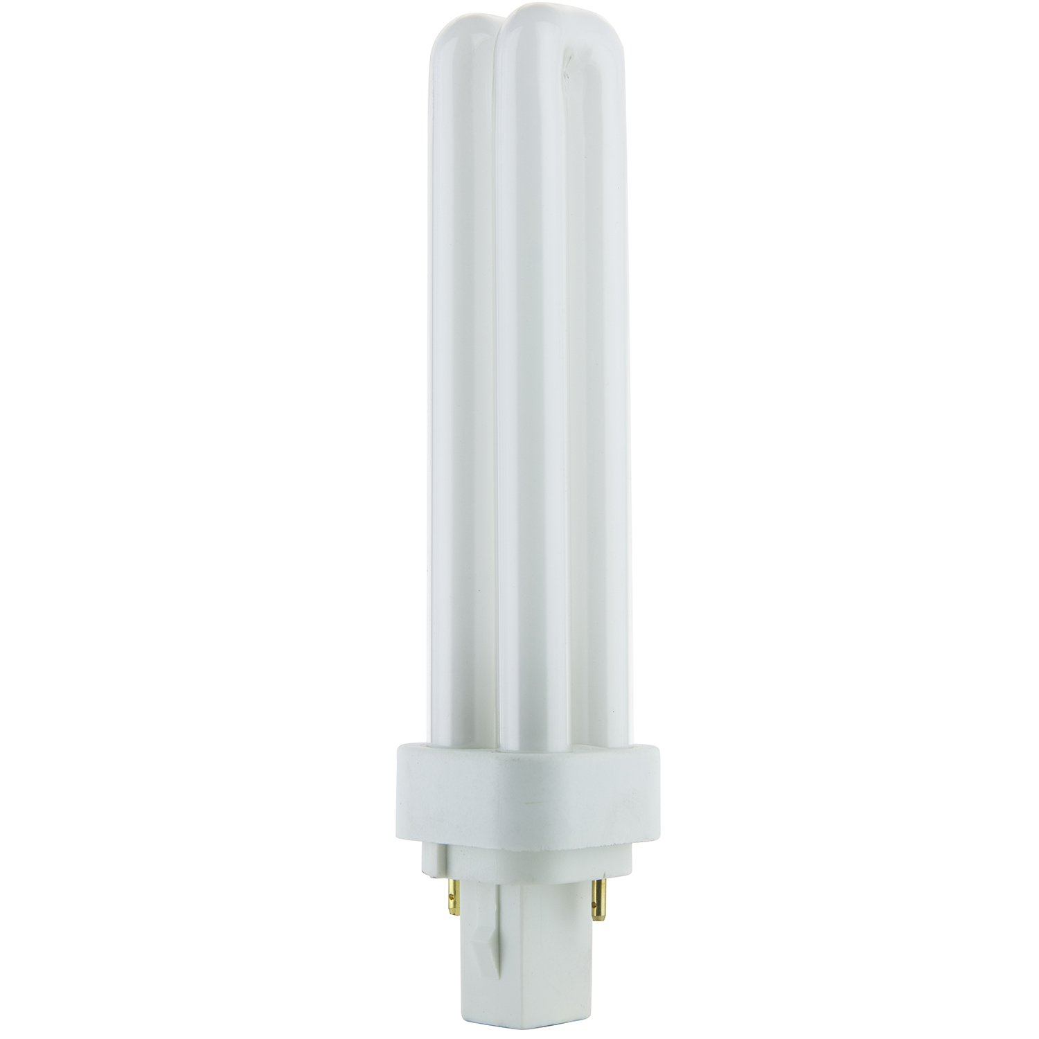 Sunlite PLD18//SP27K//10PK 2700K Warm White Fluorescent 18W PLD Double U-Shaped Twin Tube CFL Bulbs with 2-Pin G24D-2 Base 10 Pack
