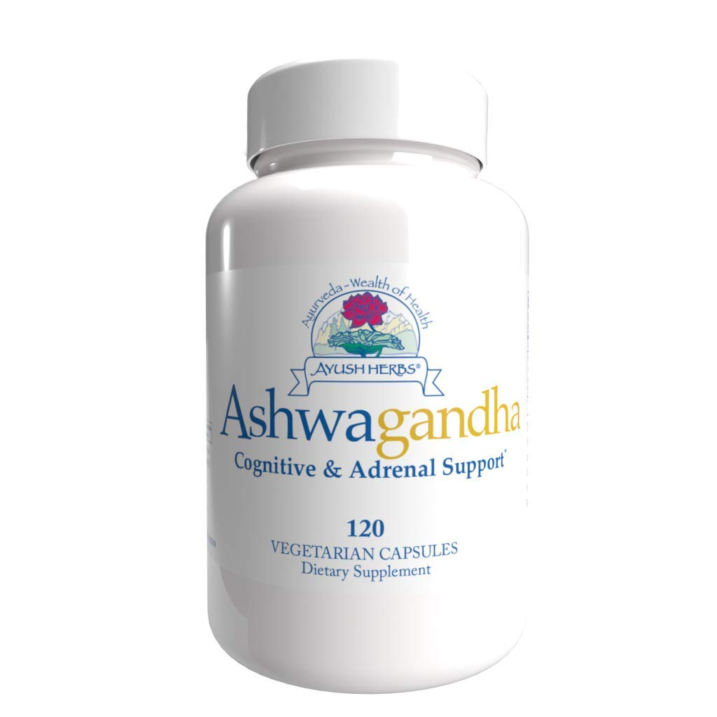 Ayush Herbs Ashwagandha, Powerful Cognitive, Adrenal, Immune-System, and Full-Body Support, All-Natural Ayurvedic Supplement, Doctor-Formulated, 120 Capsules