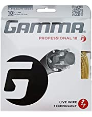 Gamma Live Wire Professional 18G Tennis String, Natural