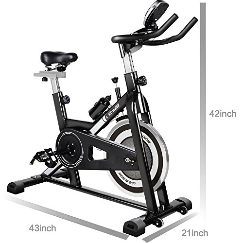 L NOW LD-506 Indoor Stationary Cycling Bike with Super Quiet Belt-driven Mechanism