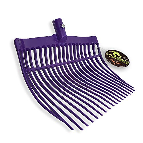 Southwestern Equine Replacement Manure Fork Head Round Bowl Fun Colors (Purple)