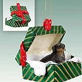 Conversation Concepts Black Dachshund Christmas Ornament Hanging Gift Box