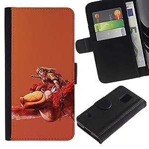 JackGot ( Zeldo ) Samsung Galaxy S5 V SM-G900 la tarjeta de Crédito Slots PU Funda de cuero Monedero caso cubierta de piel